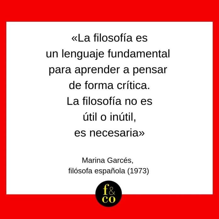 Frase filosófica Marina Garcés
