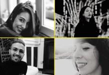 Nerea Blanco (arriba izda.), Myriam Rodríguez (arriba dcha.), Javier Correa (abajo izda.) y Belén Quejigo (abajo dcha.), cuatro caras de la filosofía joven de hoy.