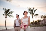 married couple posing on smathers beach in key west florida