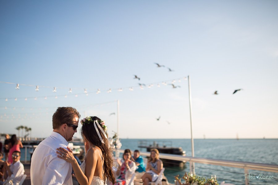 first dance on their wedding day at westin pier key west