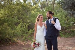 bride and groom at fort zachary state park in key west florida