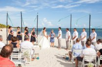 beach ceremony wide angle