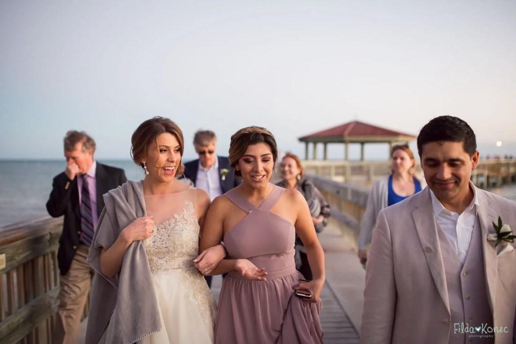 girls walking toward reception area at the reach resort