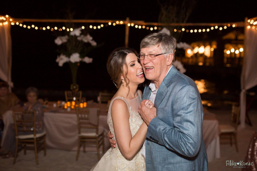 bride dances with her father at her key west wedding