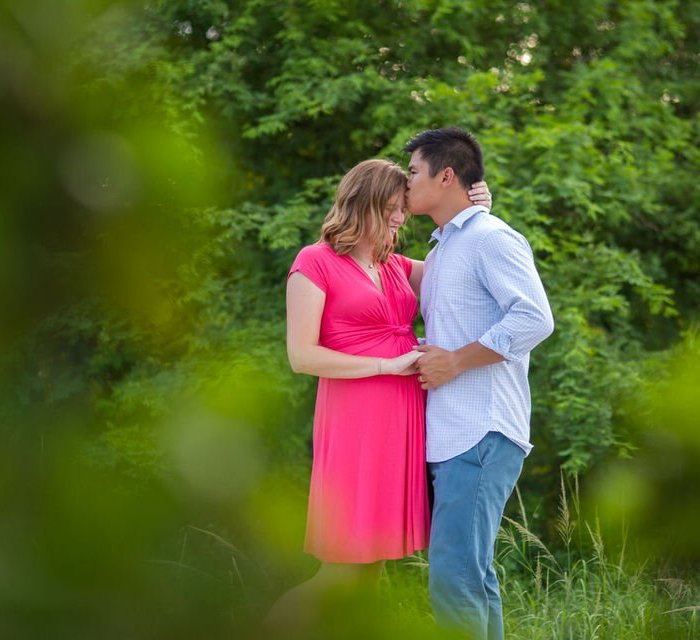 engagement photo in key west park