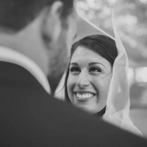 bride smiling at her groom at key west wedding