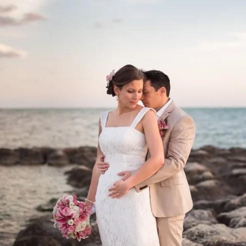 key west beach wedding at sunset