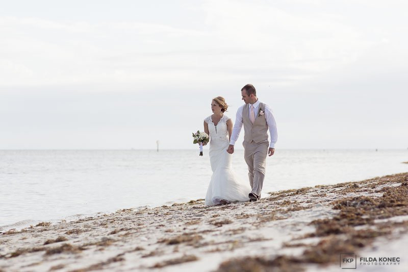 wedding photography on the beach in florida keys