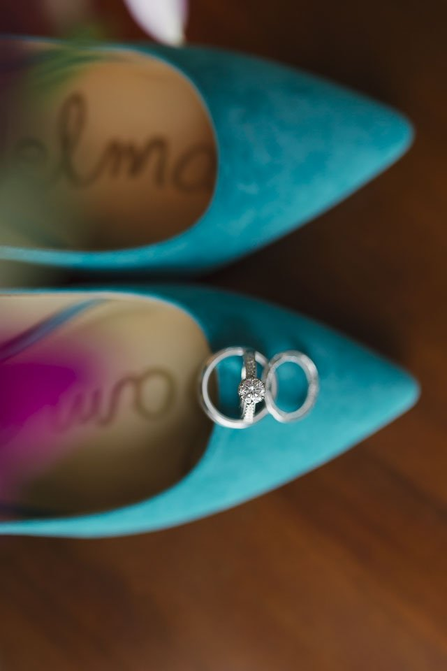 close up of wedding bands