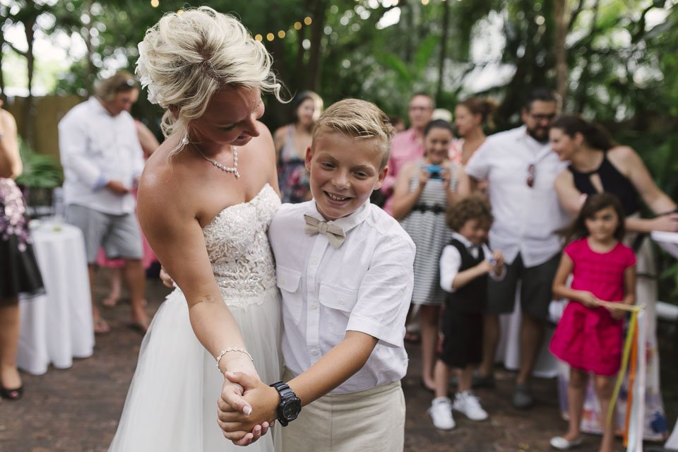 bride dances with her son at old town manor weddings
