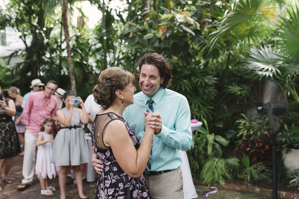 groom and his mom at key west wedding