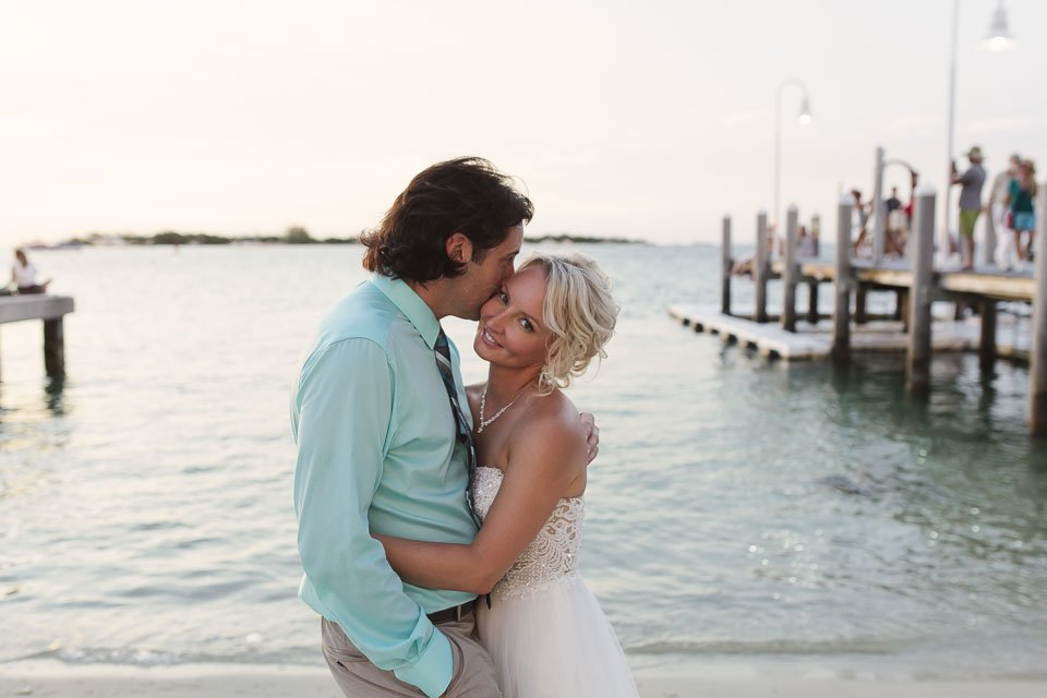 wedding at sunset in key west