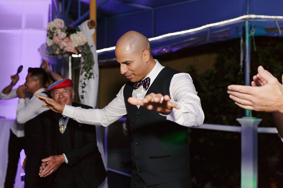 groom dances at this wedding