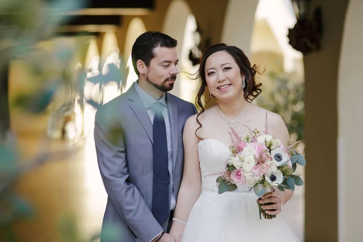 bride with her groom before their florida keys wedding