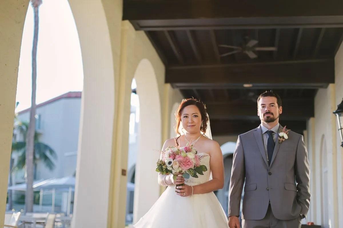 bridal photo at casa marina key west