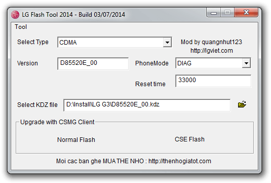 LG Flash Tool for Windows