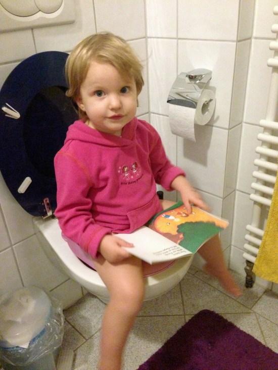 Trocken werden, Toilette
