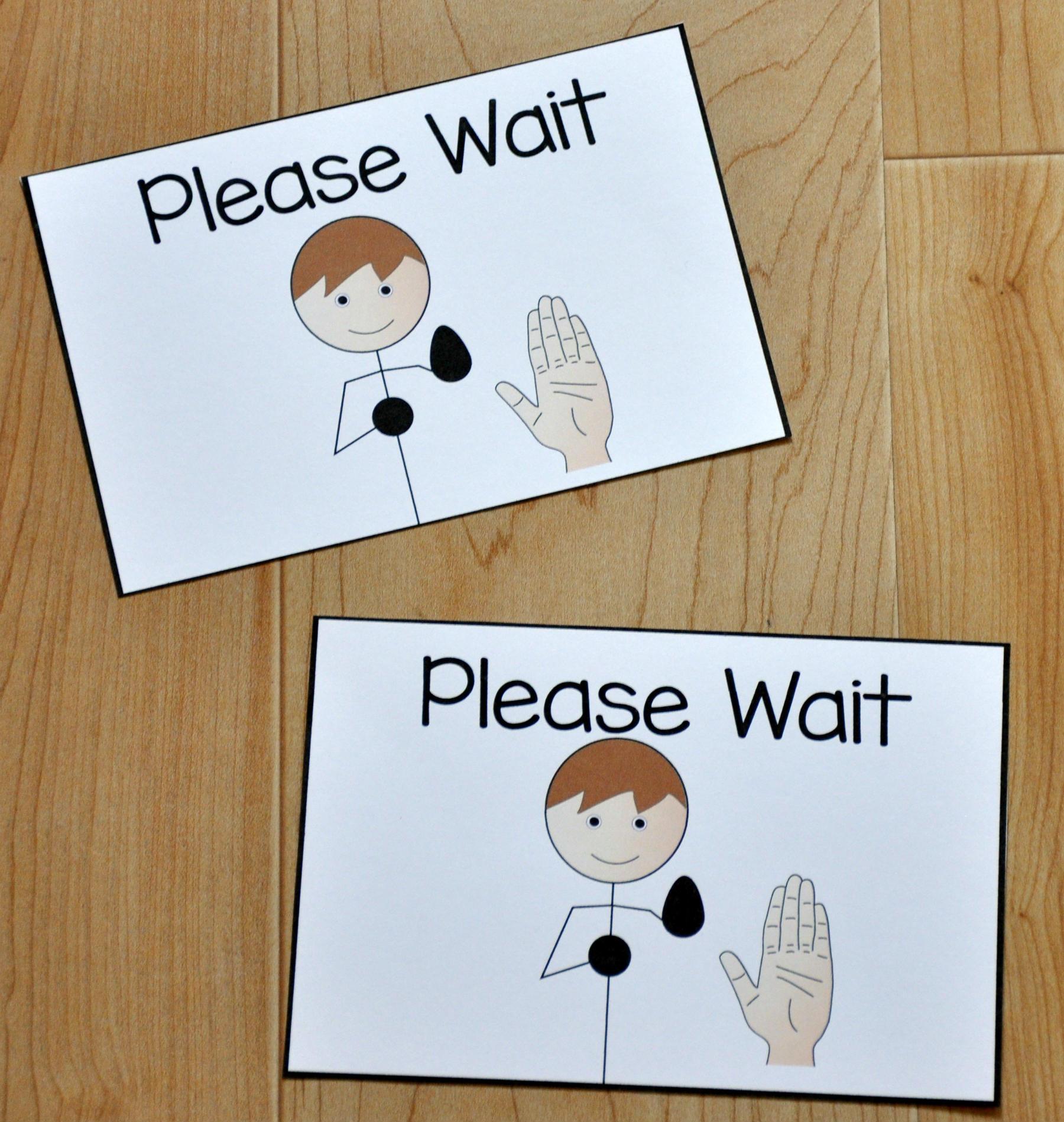 Please Wait Card