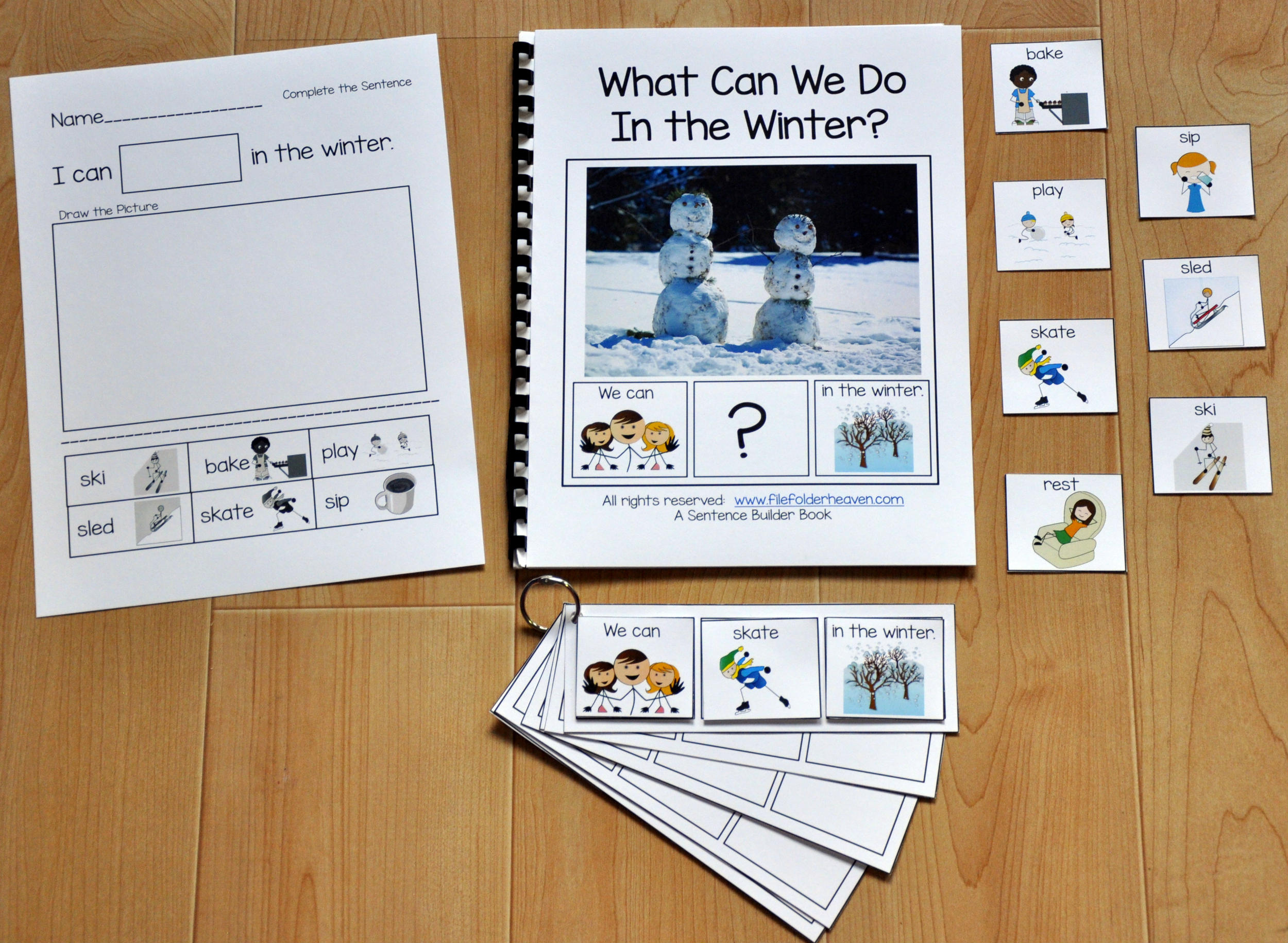 Adapted Books Wh Questions File Folder Games At File