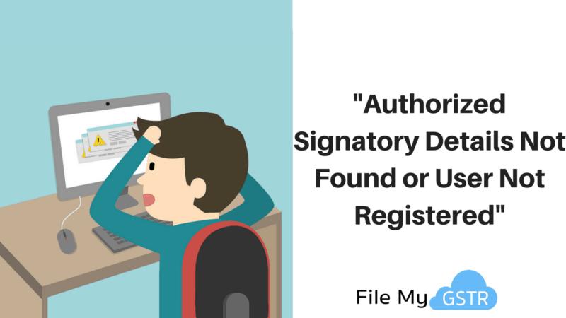 Authorized Signatory Error