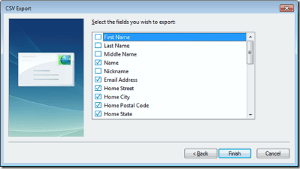 export window live mail contacts as csv