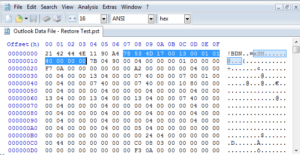 hex editor to repair pst