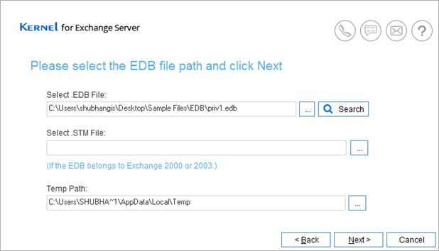 upload edb file to convert
