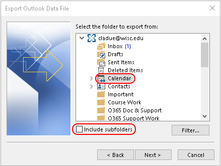 export calendar in outlook 2016