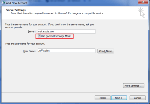 enable cached exchange mode