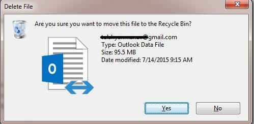 delete ost file in outlook