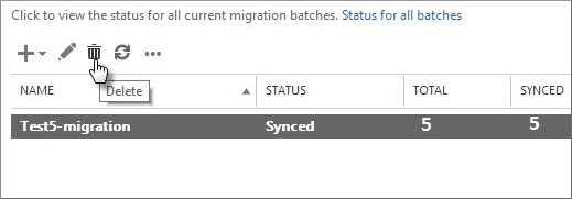 remove exchange migration batches