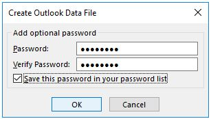 encrypt new pst file in outlook