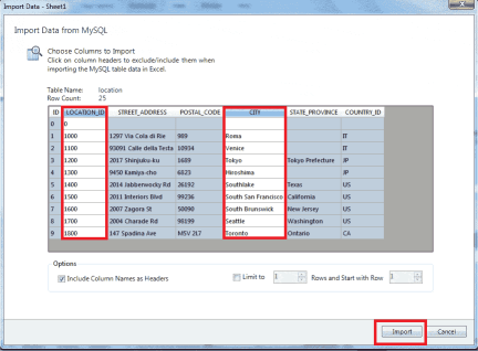 import mysql to excel spreadsheet