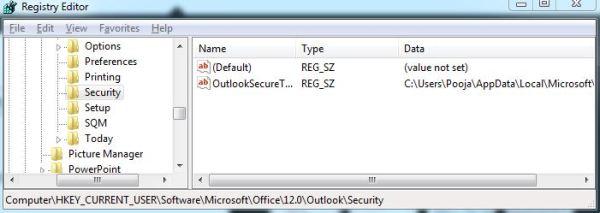 block outlook request need password