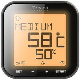 Oregon Scientific Bluetooth Grillthermometer - Grill Right, Schwarz, 12x12x5 - 1