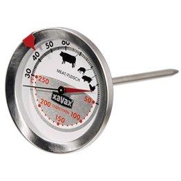 Xavax 2-in-1 Bratenthermometer aus Edelstahl (gleichzeitige Messung von Gar- und Ofentemperatur, spülmaschinengeeignet) silber - 1