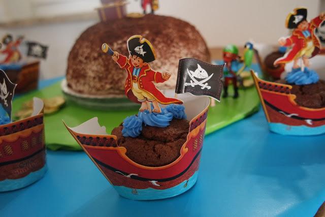 Eine Pirateninsel als Torte zum Kindergeburtstag