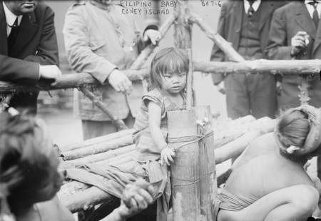 Young Filipino Girl at Coney Island, N.Y. (1900s)