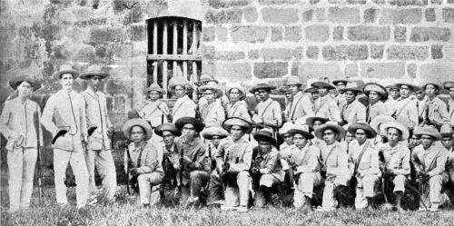 A company of Filipino soldiers originally in the Spanish service