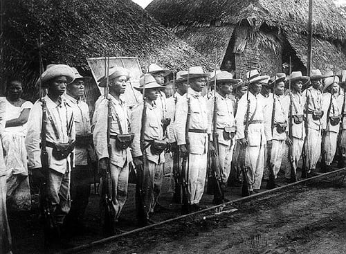 Insurgent (Filipino) soldiers in the Philippines, 1899