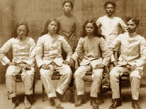 Julian Montalan, Francisco Carreon, Macario Sakay, Leon Villafuerte, Benito Natividad and Lucio de Vega. Via bayaniart.com