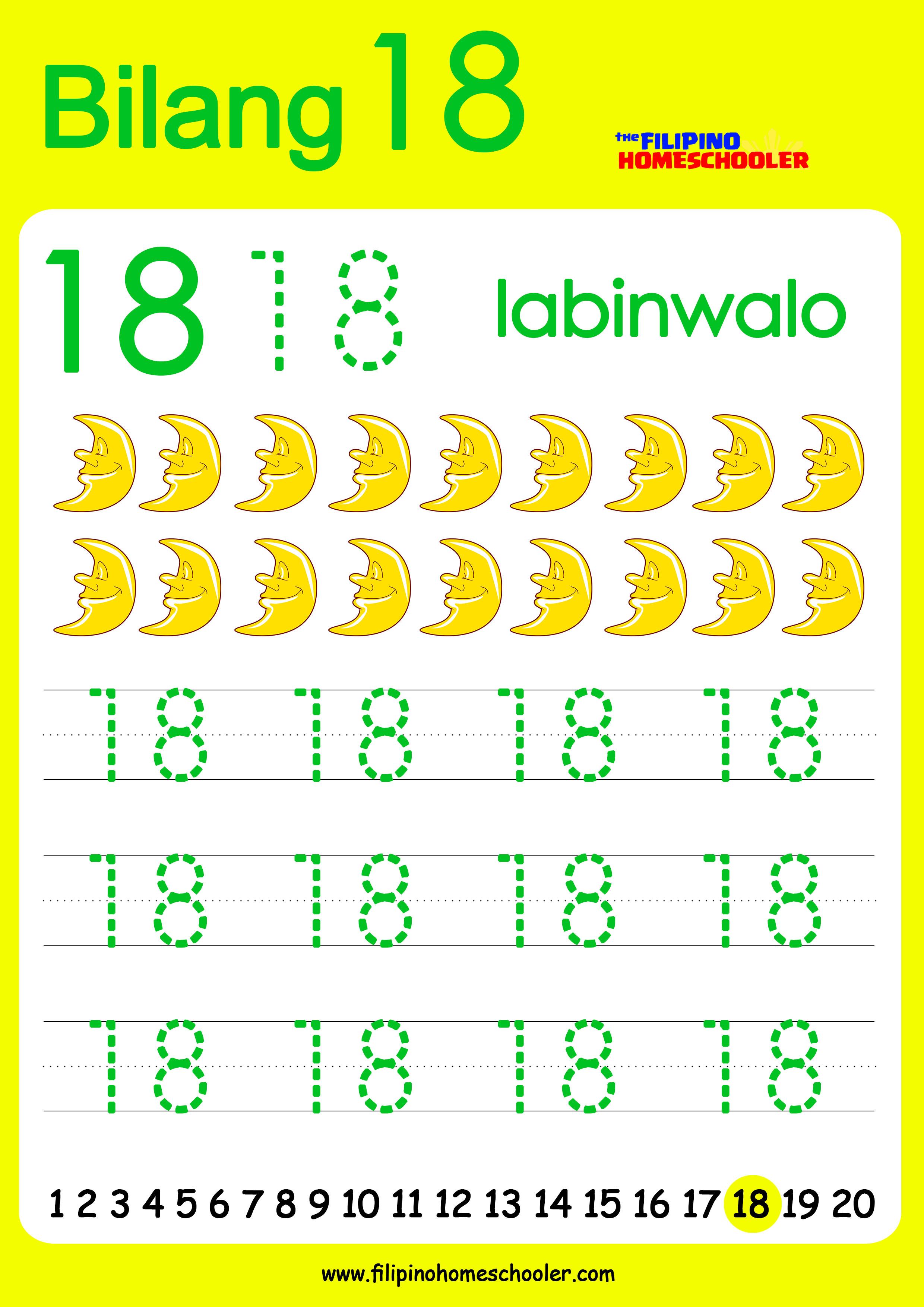 Free Filipino Numbers Worksheets From 11 20 The Filipino