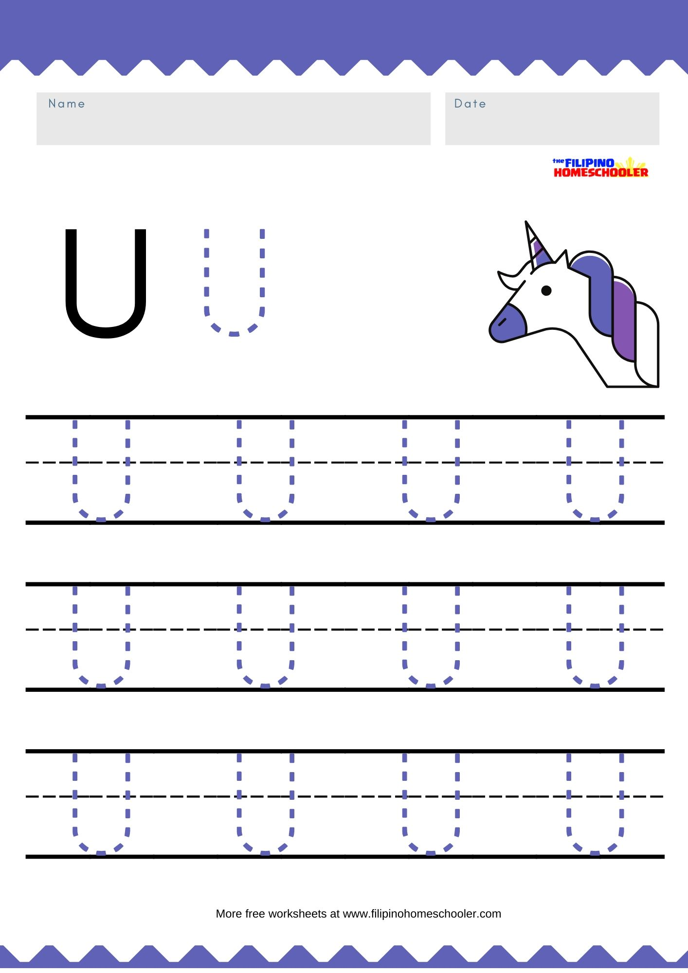 Free Uppercase Vowel Tracing Worksheets