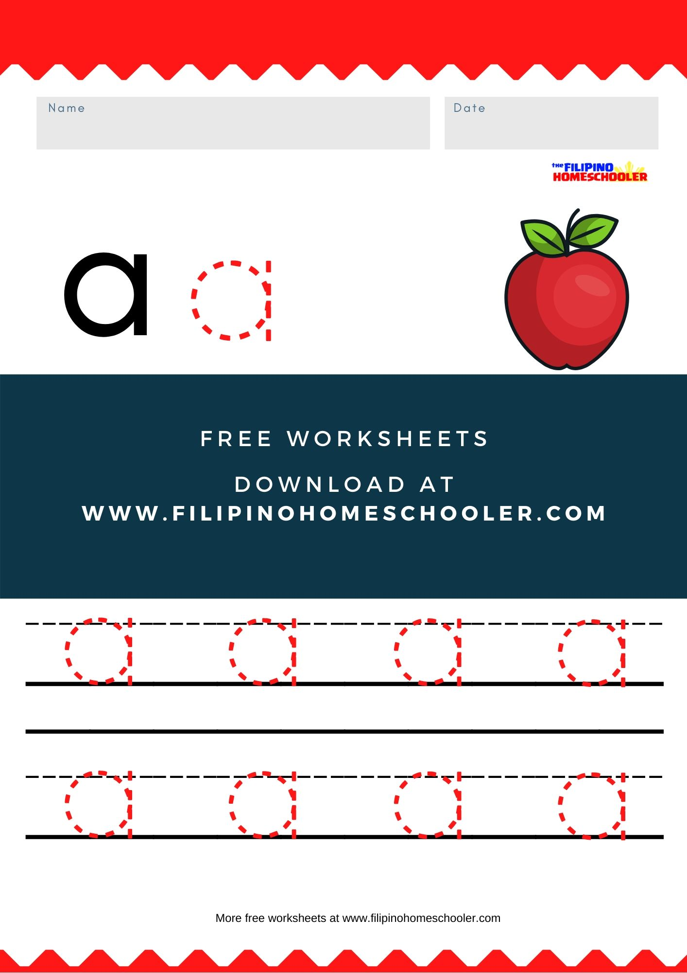 Free Lowercase Vowel Tracing Worksheets