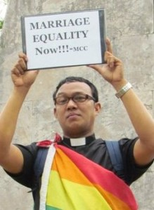 Rev. Ceejay Agbayani - one of the most vocal proponents of gay marriages in the country in recent years