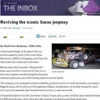 Vera Files published by feature story about Sarao Motors!