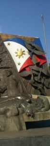 A portion of the Bonifacio memorial shrine in Manila (photo by Mark Pere Madrona)