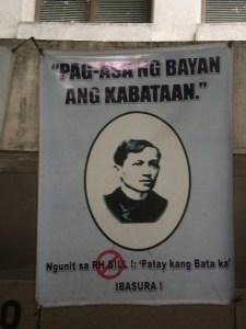 Jose Rizal - reproductive health bill