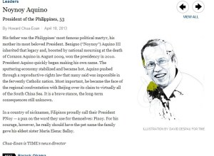 noynoy aquino - time 100