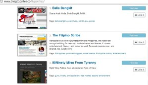 the filipino scribe - blogtopsites